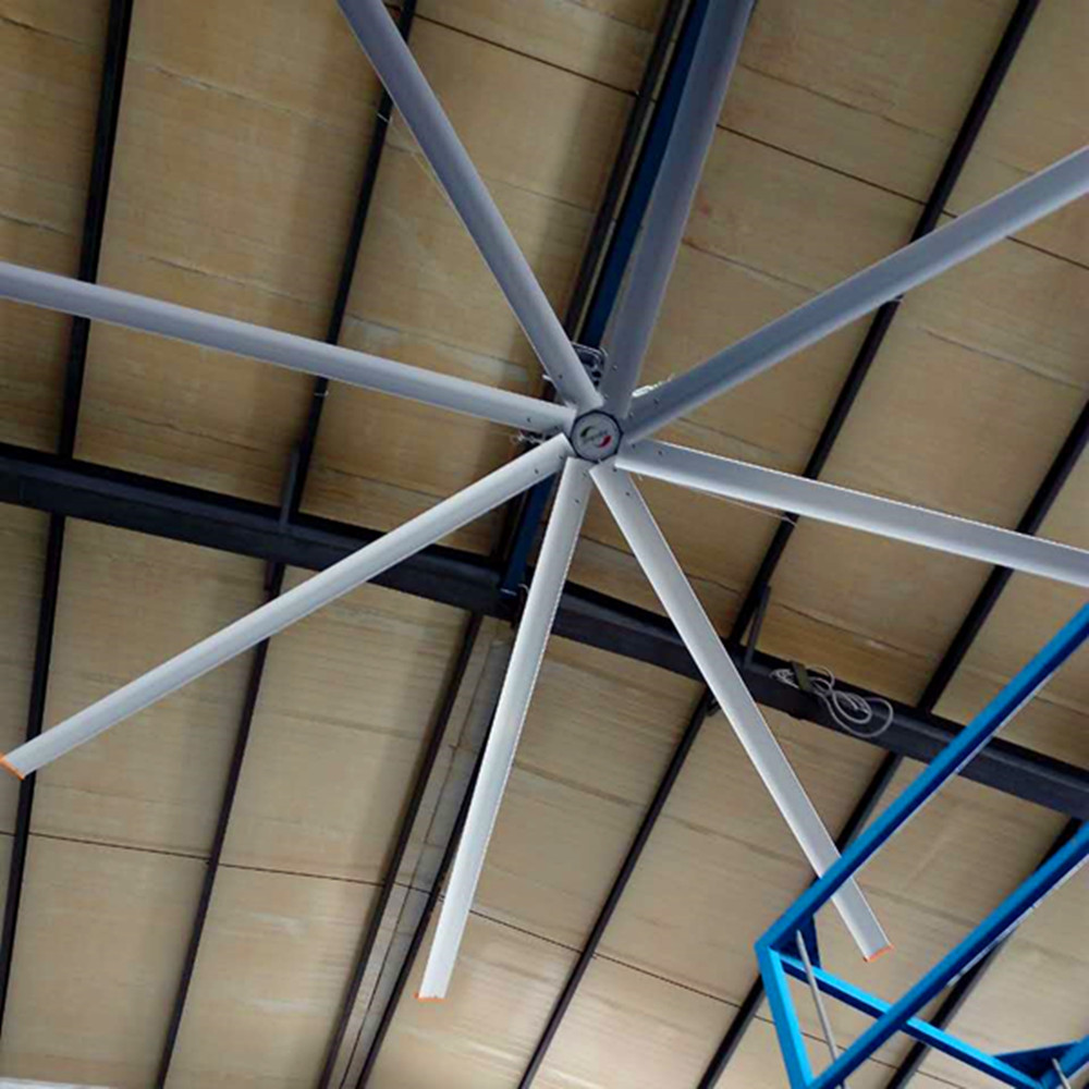 Electric Workshop Metal Blade Ceiling Fan , 22 FT Industrial Shop Ceiling Fans