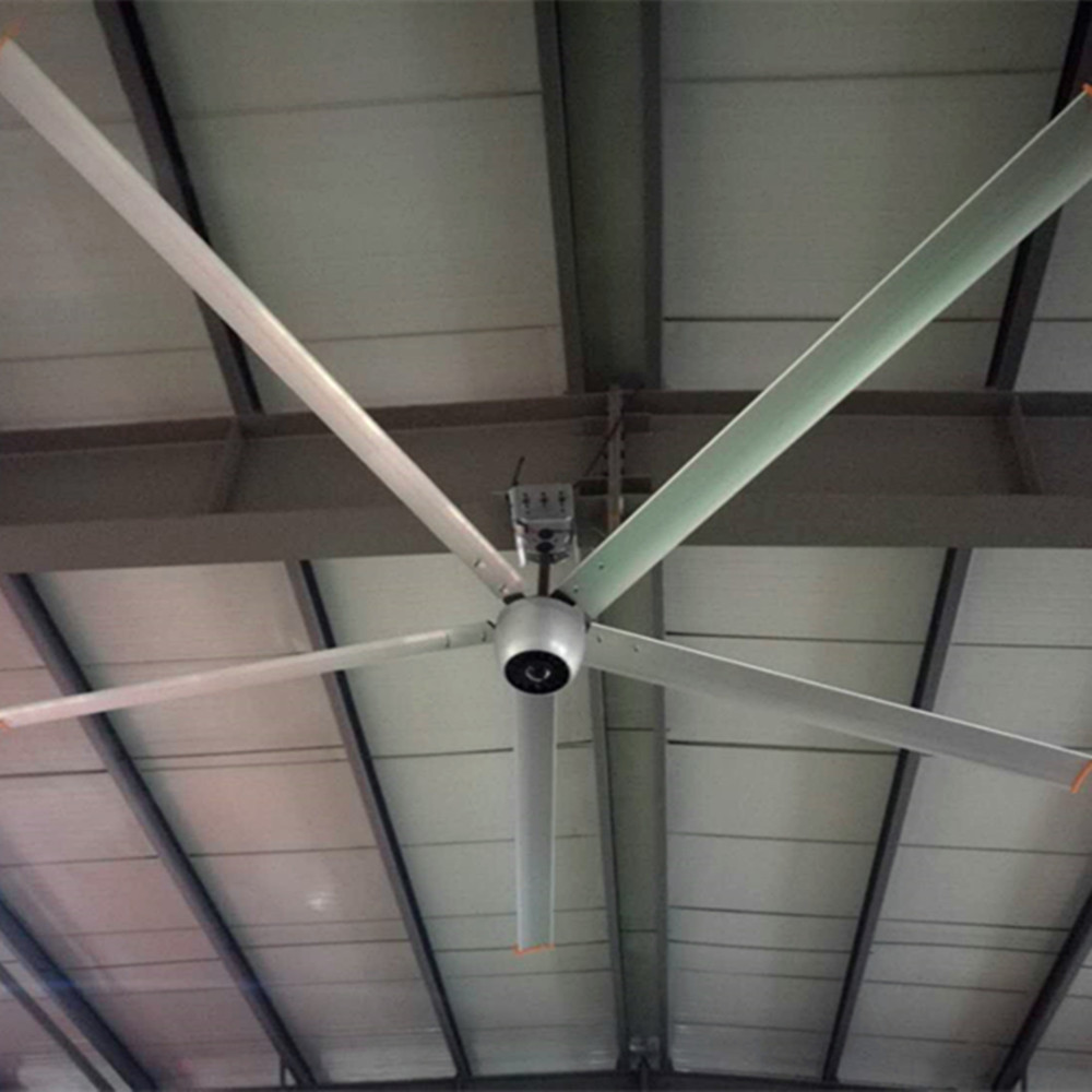 Large Industrial 10 FT Ceiling Fan , Brushless Motor Ceiling Fan For Factory