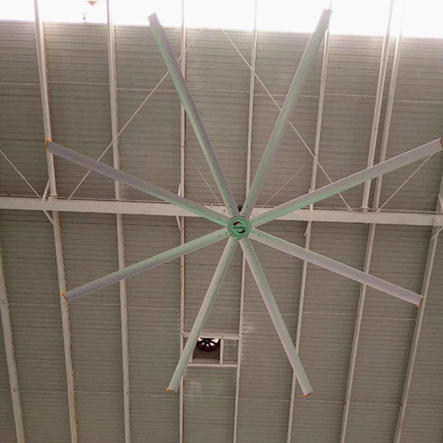 Low Noise Air Cooling Ceiling Fan , HVLS Large Industrial Factory Ceiling Fans